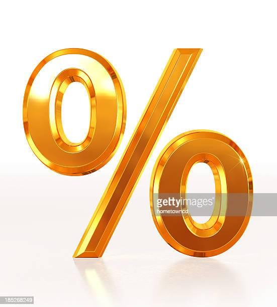 Gold Symbol Percentage