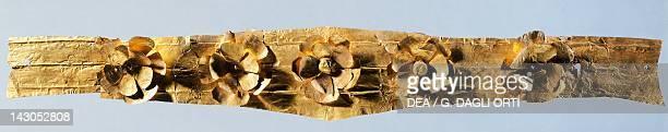 Gold tiara from Marcellina Lazio Italy Goldsmith art Greek civilization Magna Graecia Reggio Di Calabria Museo Nazionale Della Magna Grecia