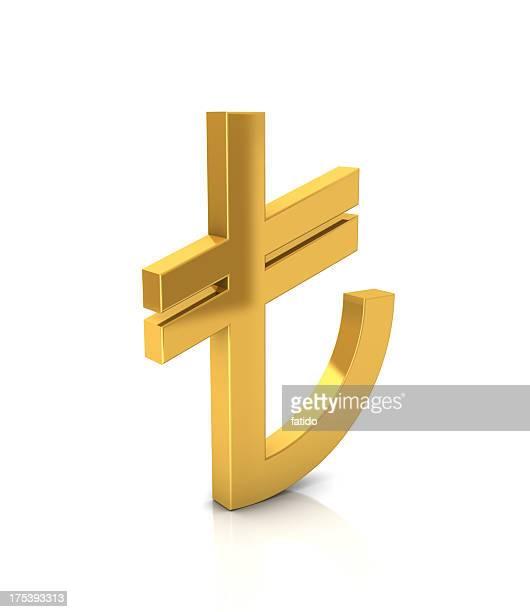 Gold TL Sign