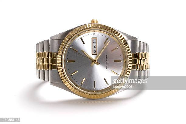 gold watch - wrist watch stock pictures, royalty-free photos & images