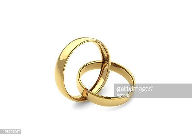gold wedding rings - wedding ring stock pictures, royalty-free photos & images