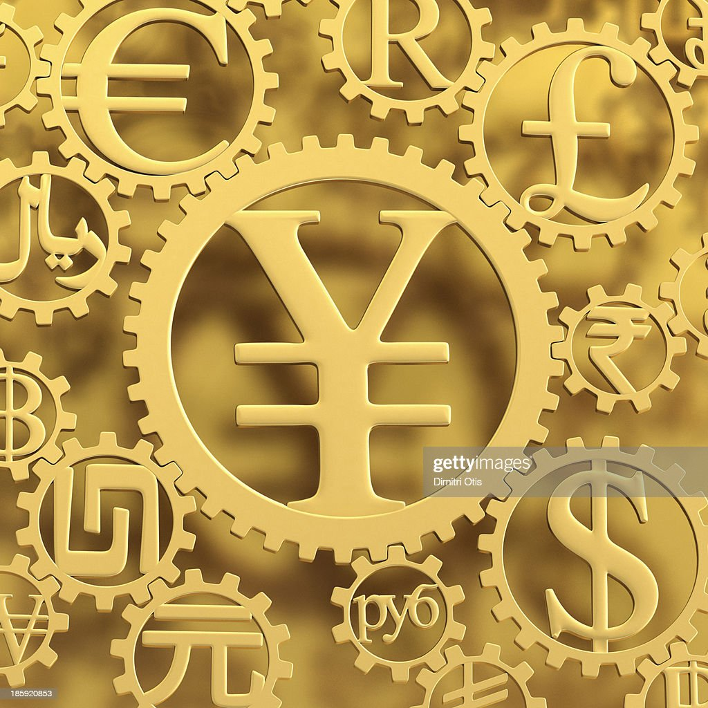 Gold yen currency symbol cog amongst others stock photo getty images gold yen currency symbol cog amongst others stock photo biocorpaavc
