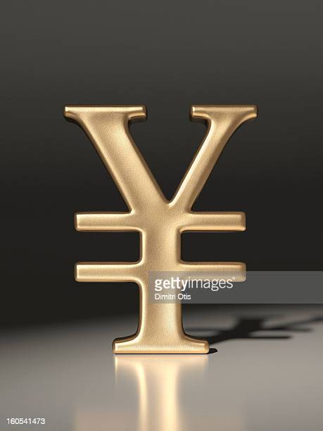 Gold Yen currency symbol