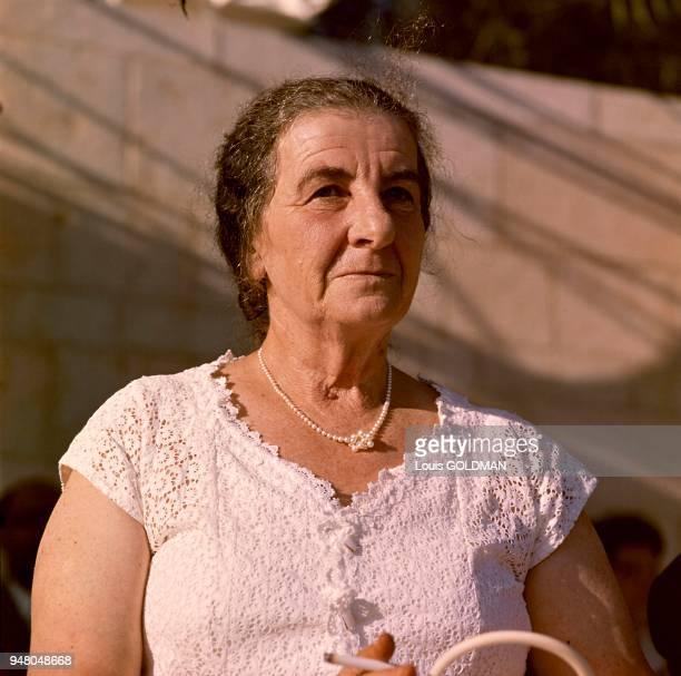 Golda MEIR Premier ministre israélien vers 1969