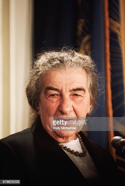 Golda Meir Speaking at National Press Club Luncheon