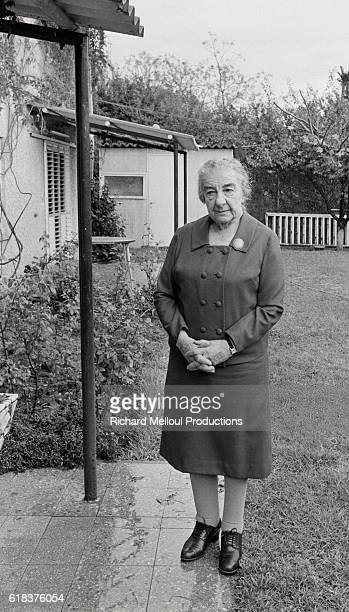 Golda Meir who served as Israel's Prime Minister from 19691974 at home in Ramat Aviv Israel