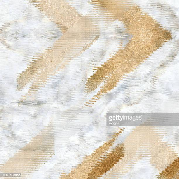 golden abstract arrows geometric lines on marble texture background - or couleur photos et images de collection