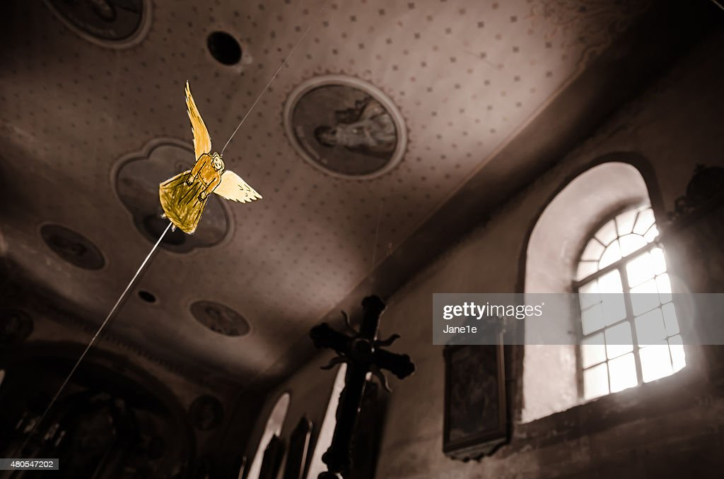 Golden angel : Stock Photo