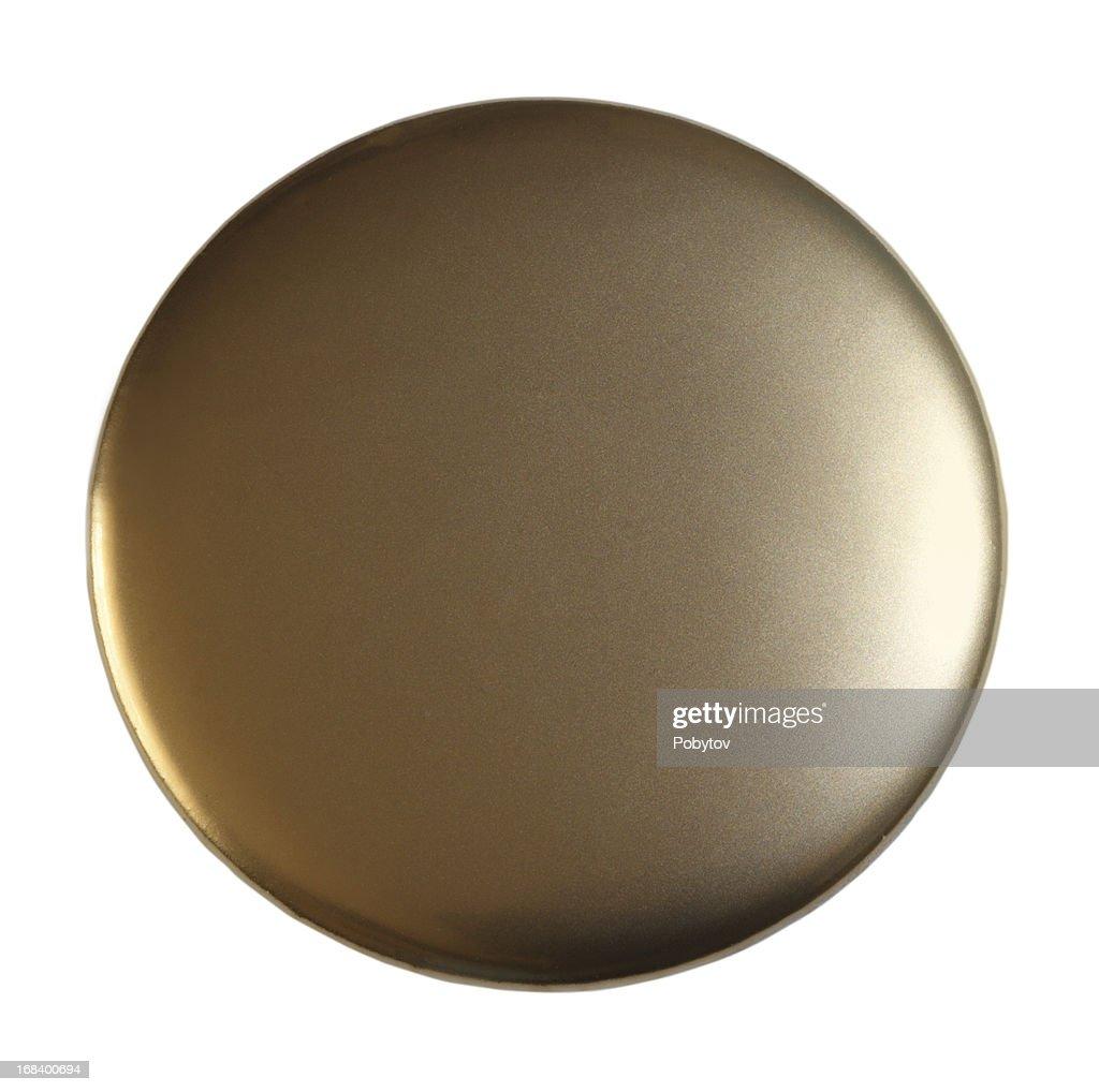 Golden Badge : Stock Photo