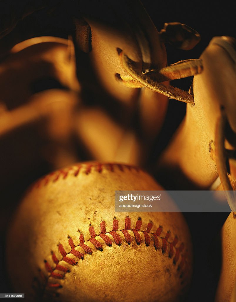 Golden baseball : Stock Photo