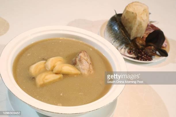 Golden Bauhinia Cantonese Restaurant's Arrowroot and carp soup at HKCEC in Wan Chai 26AUG16 SCMP / Edward Wong