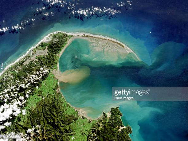 Golden Bay at low tide on May 12 2016 on the South Island of New Zealand