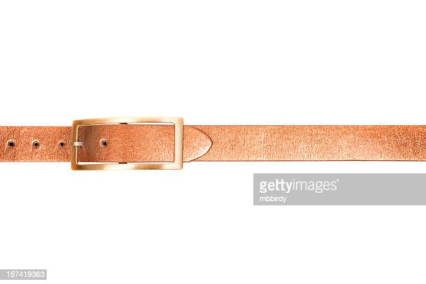 Golden belt, isolated on white background