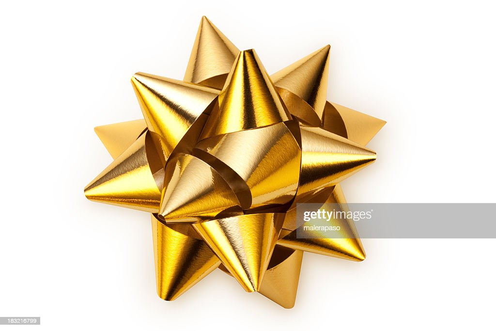 Golden bow : Stock Photo