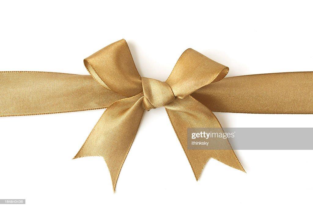 golden bow : Stock Photo