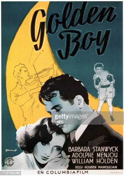 Barbara Stanwyck William Holden on Swedish poster art 1939