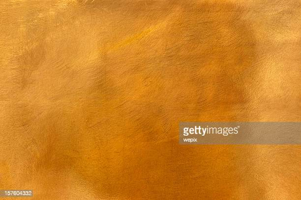 Golden brass metal plate background textured surface XL