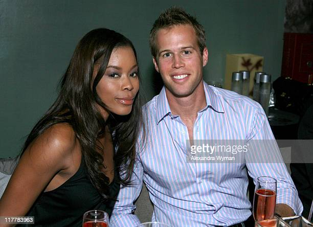 Golden Brooks and Courtney Reum during Hennessy Higher Marques Dinner Hosted by Bonnie Somerville in Los Angeles CA United States