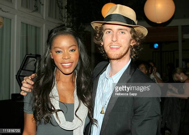 """Golden Brooks and Jesse Carmichael of Maroon 5 during Maroon 5 Launches Their Book """"Midnight Miles"""" at Miau Haus Art Studio in Los Angeles,..."""