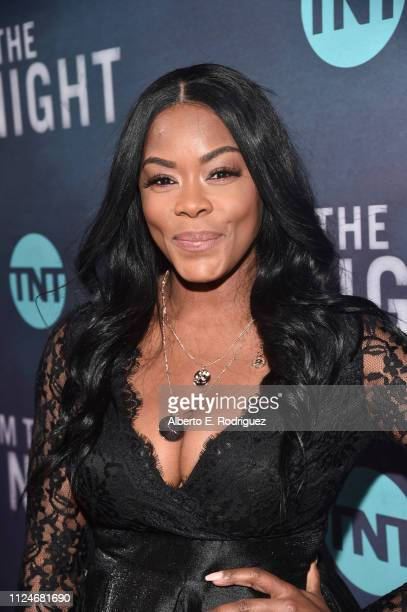 Golden Brooks attends the premiere of TNT's I Am The Night at Harmony Gold on January 24 2019 in Los Angeles California