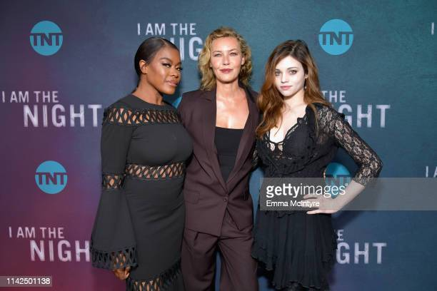 Golden Brooks Connie Nielsen and India Eisley attend TNT's I Am The Night FYC Event on May 9 2019 in North Hollywood California