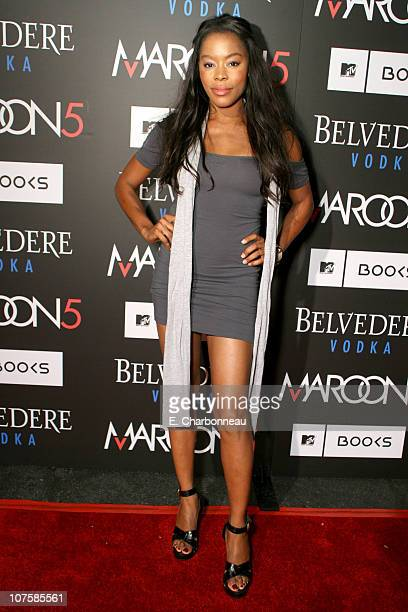Golden Brooks during Belvedere Vodka Sponsors the Maroon 5 Book Launch of 'Midnight Miles' at Miau Haus Art Studio in Los Angeles California