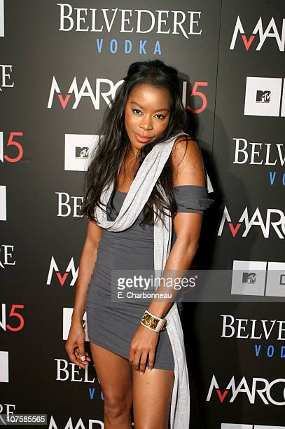 """Golden Brooks during Belvedere Vodka Sponsors the Maroon 5 Book Launch of """"Midnight Miles"""" at Miau Haus Art Studio in Los Angeles, California."""