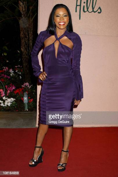 Golden Brooks during Clive Davis' 2005 PreGRAMMY Awards Party Arrivals at Beverly Hills Hotel in Beverly Hills California United States