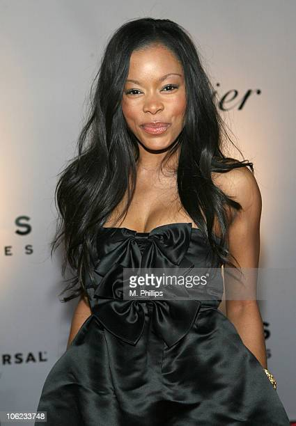 Golden Brooks during Focus Features and Universal's 2007 Golden Globe After Party Arrivals at Beverly Hilton in Los Angeles California United States