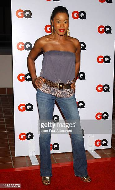 Golden Brooks during GQ Magazine 2004 NBA AllStar Party Arrivals at Astra West in West Hollywood California United States