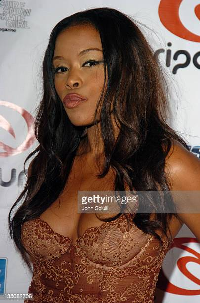 Golden Brooks during Rip Curl Presents 'Sand Glam' Benefiting Heal the Bay Arrivals and Red Carpet at Club 1650 in Hollywood California United States