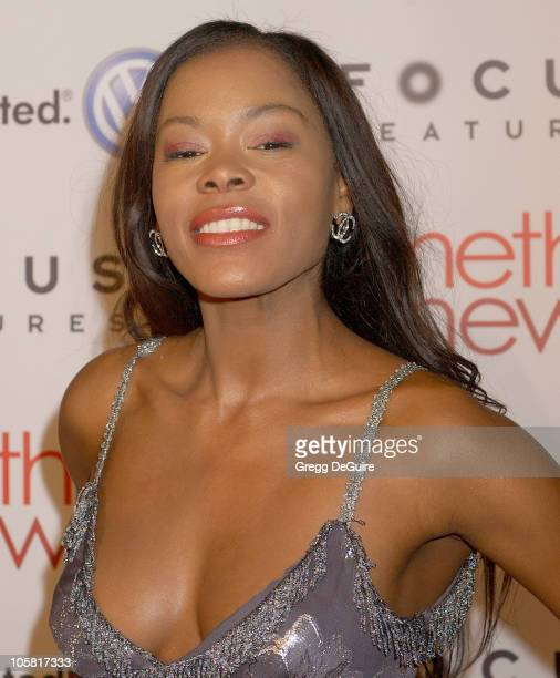 Golden Brooks during Something New Los Angeles Premiere Arrivals at Cinerama Dome in Los Angeles California United States