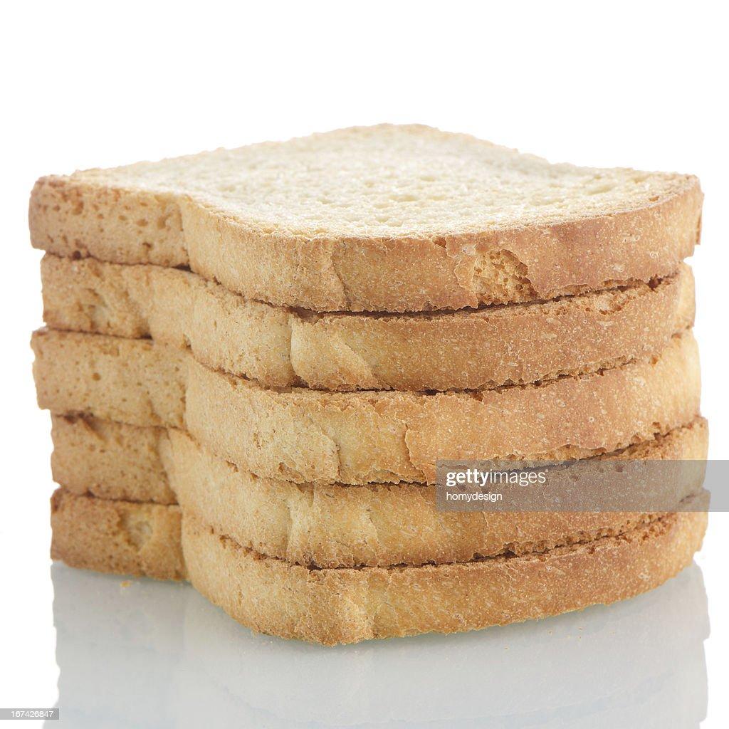 Golden brown toast : Stock Photo