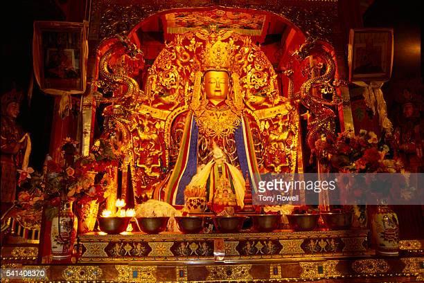 Golden Buddha, Samye Monastery, Dranang, Shannan Prefecture, Tibet