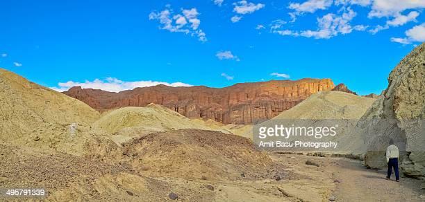 Golden canyon panorama. Death Valley, California