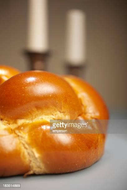 Golden Challah for Shabbat Dinner