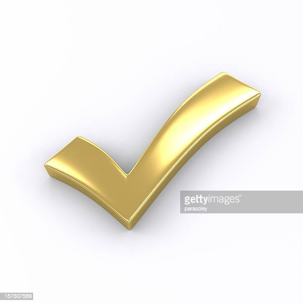 golden check mark - check mark stock pictures, royalty-free photos & images