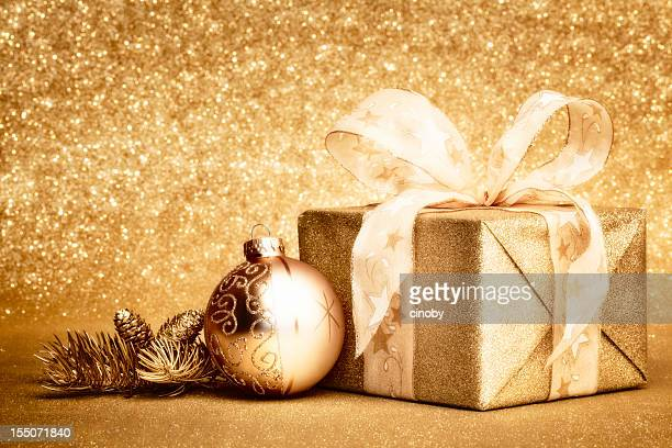 Golden Christmas cadeau