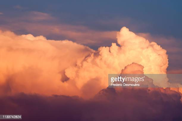 golden clouds - climat stock pictures, royalty-free photos & images