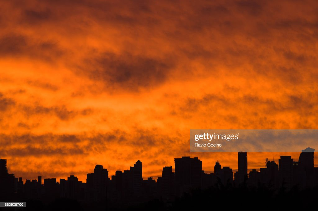 Golden clouds : Stock Photo