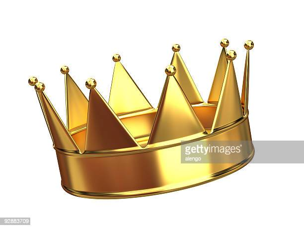 A golden crown with ten points