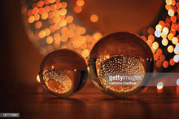 golden crystal balls - catherine macbride stockfoto's en -beelden