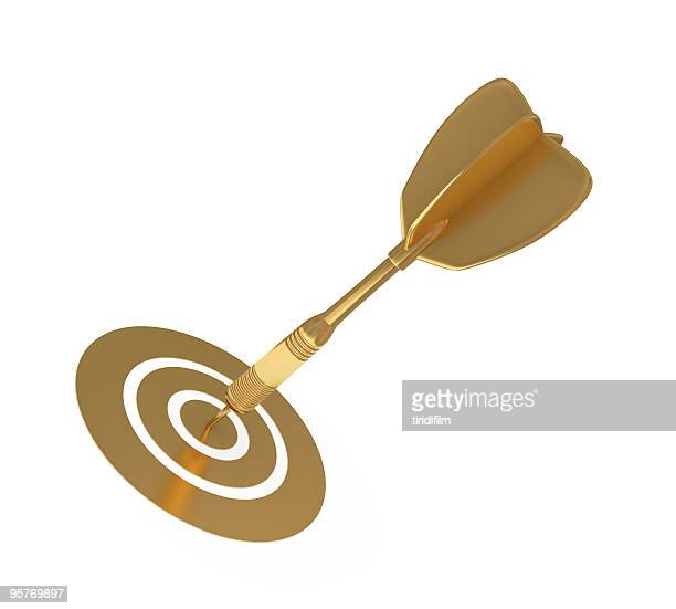 golden dart - darts stock pictures, royalty-free photos & images