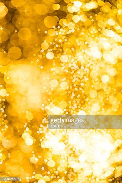 ゴールドのデフォーカスライトで、クリスマス