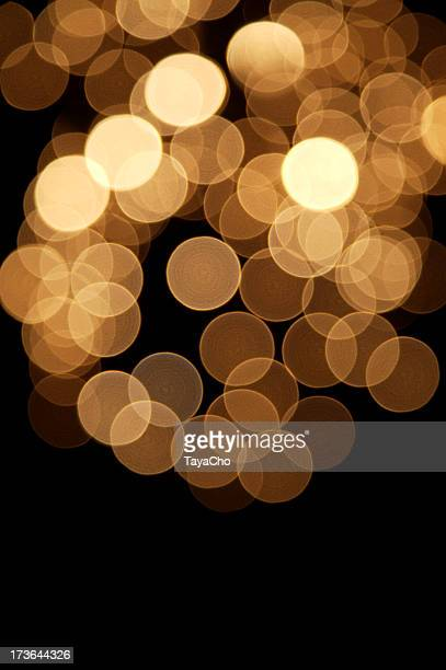 Golden defocused lights