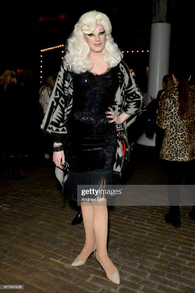Golden Delicious attends the Veronica Beard Fall 2018 presentation at Highline Stages on February 12, 2018 in New York City.