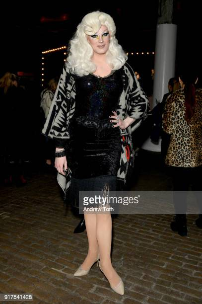 Golden Delicious attends the Veronica Beard Fall 2018 presentation at Highline Stages on February 12 2018 in New York City