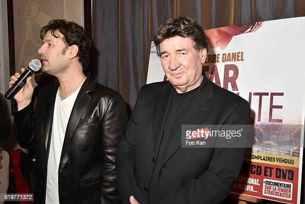Golden disc awarded singer Jean Pierre Danel and his father Pascal Danel attends 'Guitar Tribute' by Golden disc awarded Jean Pierre Danel at Hotel...