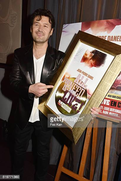 Golden disc awarded singer Jean Pierre Danel attends 'Guitar Tribute' by Golden disc awarded Jean Pierre Danel at Hotel Burgundy on April 7 2015 in...