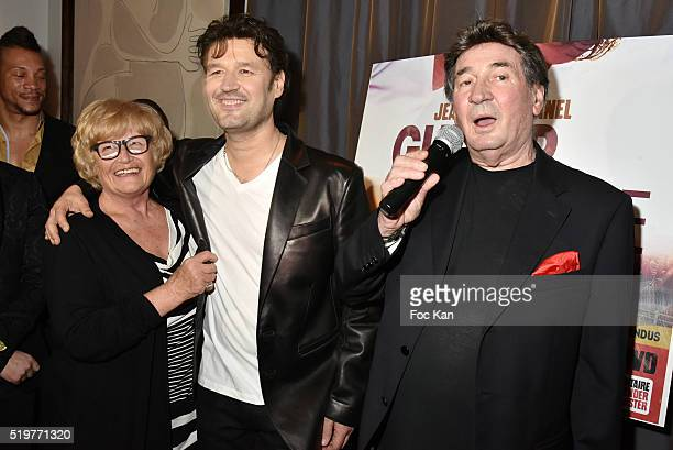 Golden disc awarded singer Jean Pierre Danel his mother and his father Pascal Danel attends 'Guitar Tribute' by Golden disc awarded Jean Pierre Danel...